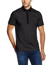 Camisa polo negra de Farah