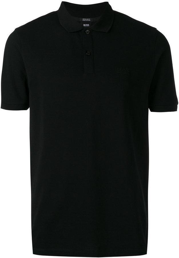 114f7a537588c ... Camisas polo negras Camisa polo negra de Hugo Boss
