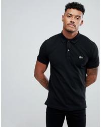 Camisa polo negra de Lacoste