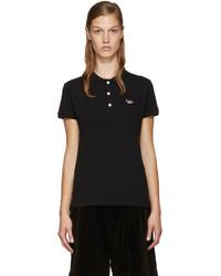 Camisa polo negra de MAISON KITSUNE