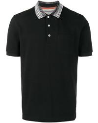 Camisa polo negra de Missoni
