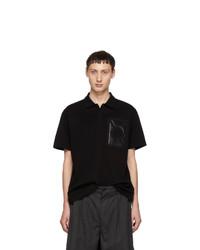 Camisa polo negra de Moncler Genius