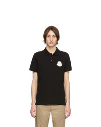 Camisa polo negra de Moncler