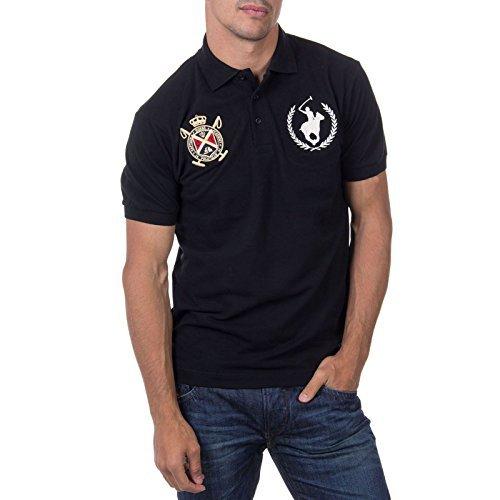 daebd19d51536 ... Camisa polo negra de Polo Club ...
