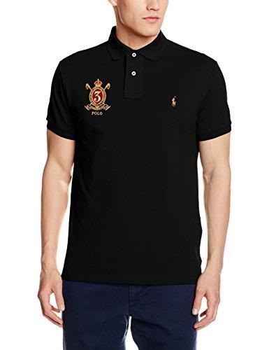 8687240a5 Camisa polo negra de Polo Ralph Lauren