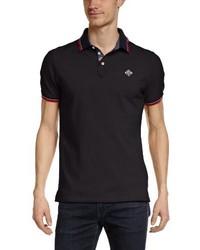 Camisa polo negra de Schott NYC