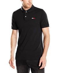 Camisa polo negra de Tommy Hilfiger Denim
