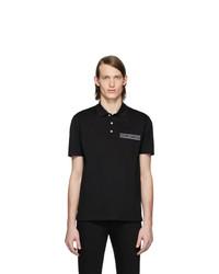 Camisa polo negra de Versace