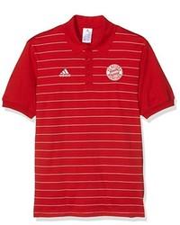 Camisa polo roja de adidas