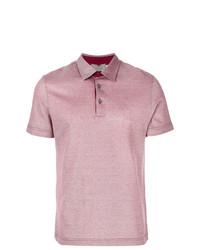 Camisa polo roja de Canali