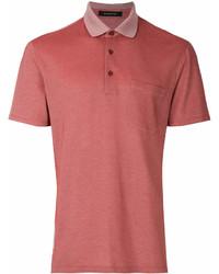 Camisa polo roja de Ermenegildo Zegna