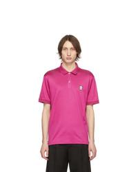 Camisa polo rosa de Alexander McQueen
