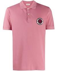 Camisa polo rosada de Alexander McQueen