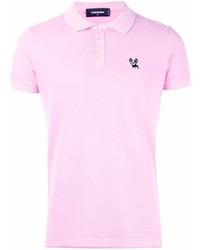 Camisa polo rosada de DSQUARED2