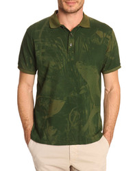 Camisa polo verde oliva