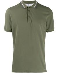 Camisa polo verde oliva de Brunello Cucinelli