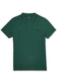Camisa polo verde oscuro