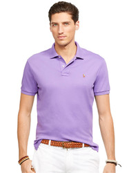 Camisa polo violeta claro