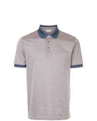 Camisa polo violeta claro de Gieves & Hawkes
