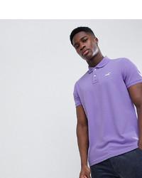 Camisa polo violeta claro de Hollister