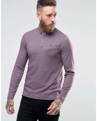 Camisa polo violeta claro de Ted Baker