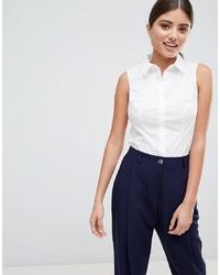 Camisa sin mangas blanca de ASOS DESIGN