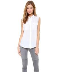Camisa sin Mangas Blanca de Equipment