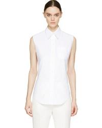 Camisa sin mangas blanca de Thom Browne