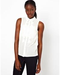 Camisa sin mangas blanca de Vero Moda