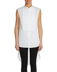 Camisa sin Mangas de Seda Blanca de BCBGMAXAZRIA