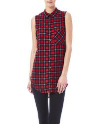 Camisa sin mangas en rojo y azul marino original 9064854