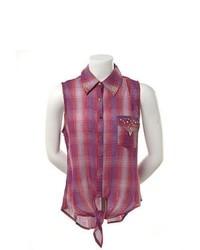 Camisa sin mangas morado original 9061942