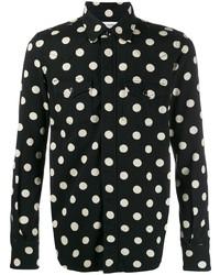Camisa vaquera a lunares negra de Saint Laurent