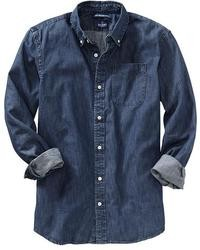 Camisa vaquera azul marino