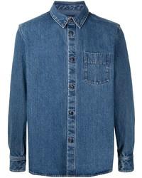 Camisa vaquera azul marino de A.P.C.