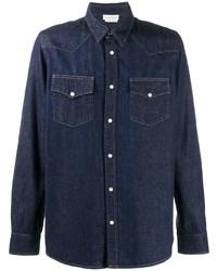 Camisa vaquera azul marino de Alexander McQueen