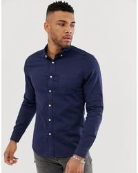 Camisa vaquera azul marino de ASOS DESIGN