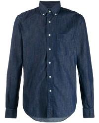 Camisa vaquera azul marino de Aspesi