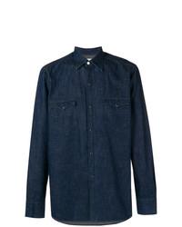 Camisa vaquera azul marino de Bagutta