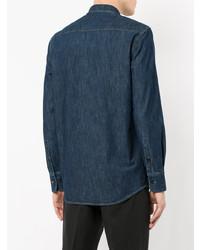 Camisa vaquera azul marino de Kent & Curwen