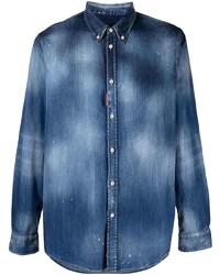 Camisa vaquera azul marino de DSQUARED2