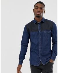 Camisa vaquera azul marino de Esprit
