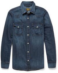 Camisa vaquera azul marino de Jean Shop