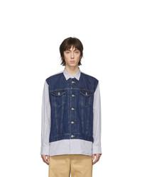 Camisa vaquera azul marino de Junya Watanabe