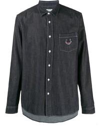 Camisa vaquera azul marino de Kenzo
