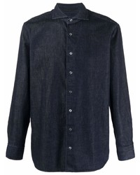 Camisa vaquera azul marino de Lardini