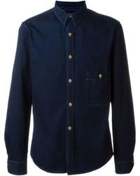 Camisa vaquera azul marino de Lemaire