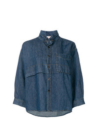Camisa vaquera azul marino de Marni
