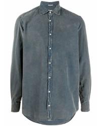 Camisa vaquera azul marino de Massimo Alba