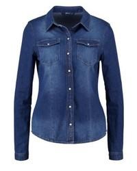 Camisa Vaquera Azul Marino de Only
